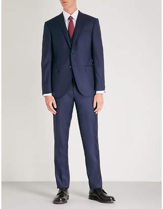 Corneliani Academy-fit sharkskin wool suit