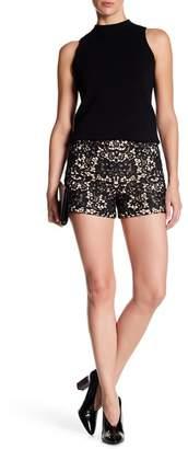 Alice + Olivia Marisa Crochet Back Zip Shorts