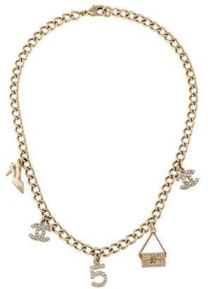Chanel Crystal Charm Necklace
