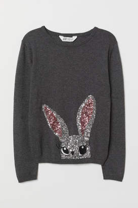 H&M Sweater with Sequins - Gray