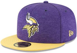 New Era Boys' Minnesota Vikings On Field Sideline Home 59FIFTY Fitted Cap