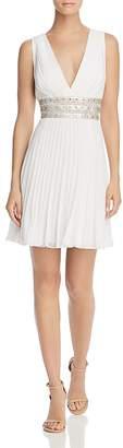 BCBGMAXAZRIA Pleated Georgette Dress