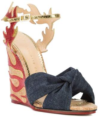 Charlotte Olympia Flame wedge sandals
