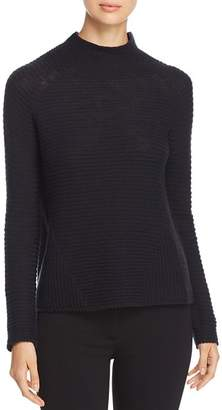 Emporio Armani Ribbed Wool Funnel-Neck Sweater