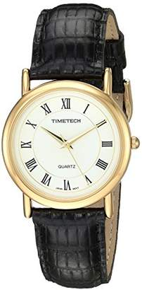 TIMETECH Classic Roman Numeral Dial Analog Dress Watch for Boys with Leather Strap