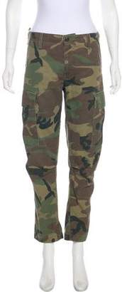 RE/DONE Mid-Rise Straight-Leg Camo Pants