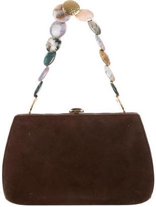 Judith Leiber Embellished Suede Handle Bag $95 thestylecure.com
