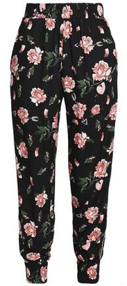 Mother of Pearl Floral-Print Twill Tapered Pants