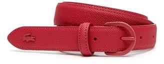 Lacoste Women's L.12.12 Concept Monochrome Pique Tongue Buckle Belt
