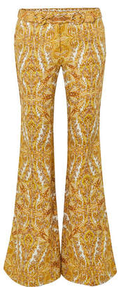 Zimmermann Zippy Paisley-print Linen Flared Pants
