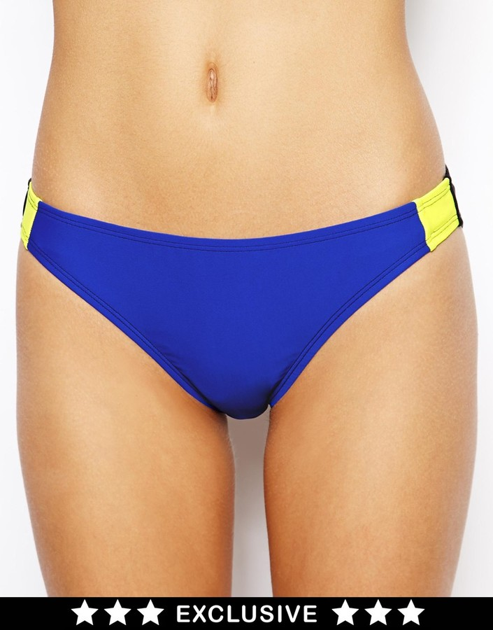 South Beach Exclusive to ASOS Dee Colour Block Bikini Bottom