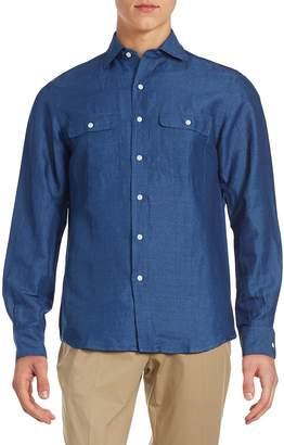 Ralph Lauren Purple Label Men's Aston Classic Fit Solid Button-Down Shirt