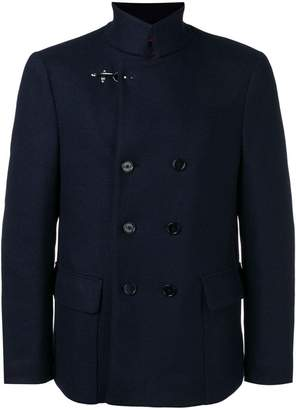 Fay high neck double-breasted jacket