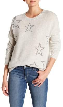 360 Cashmere Harper Star Knit Cashmere Blend Sweater