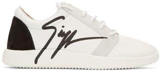 Giuseppe Zanotti White Signature Sneakers