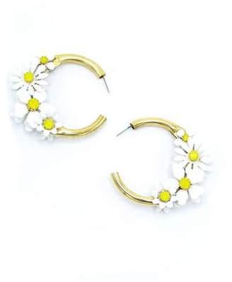 Elizabeth Cole Daisy Hoop Earrings