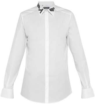 Dolce & Gabbana Logo Applique Cotton Shirt - Mens - White