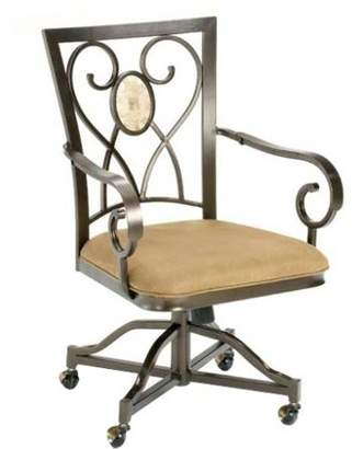 Hillsdale Furniture Hillsdsale Brookside Oval Caster Chairs, Set of 2