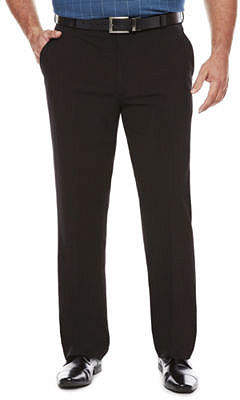 Van Heusen Men's Stretch Straight-Leg Flex Flat Front Pants-Big and Tall