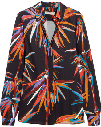 Emilio Pucci - Printed Stretch-jersey Shirt - Black $1,140 thestylecure.com