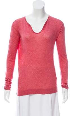Zadig & Voltaire Long Sleeve V-Neck Top