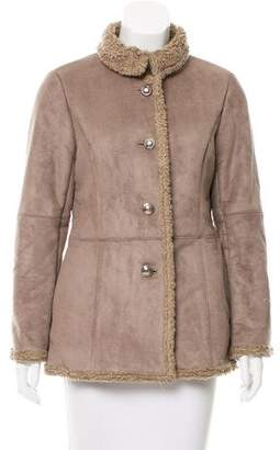 Courreges Suede Shearling Jacket
