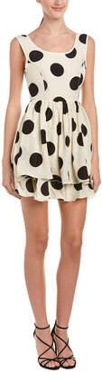 Reverse Polka Dot A-Line Dress