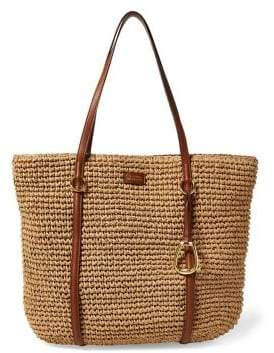 Lauren Ralph Lauren Medium Straw Tote Bag