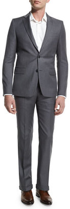 Versace Pinstripe Two-Piece Suit, Light Gray $1,395 thestylecure.com