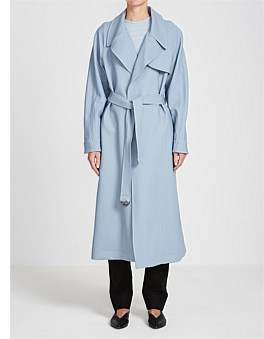 Bassike Crepe Drapey Trench