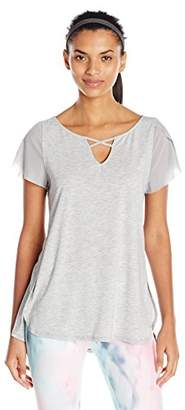 Nanette Lepore Play Women's Lace Up Flutter Sleeve Top