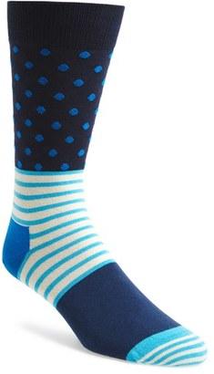 Men's Happy Socks 'Stripes & Dots' Socks $12 thestylecure.com