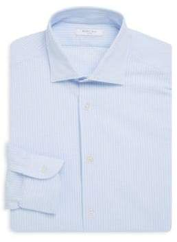 Boglioli Slim-Fit Stripe Cotton Dress Shirt