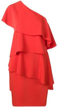 Lanvin asymmetric ruffled party dress