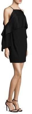 Trina Turk Cold-Shoulder Cape Dress