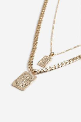 Topshop **Two Row Chain Tag Necklace