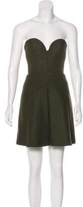 No.21 No. 21 Wool Strapless Mini Dress