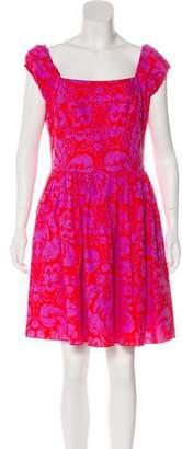 Anna Sui Floral Print A-Line Dress