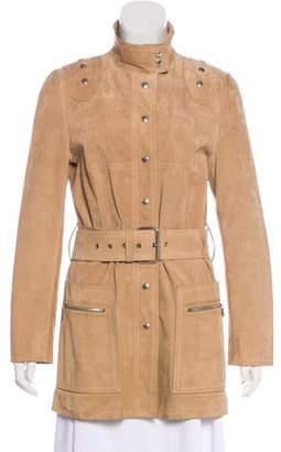 Michael Kors Suede Snap-Up Jacket