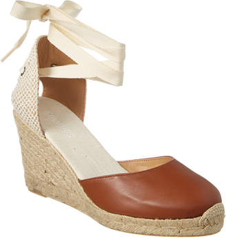 Soludos Tall Leather Wedge Sandal
