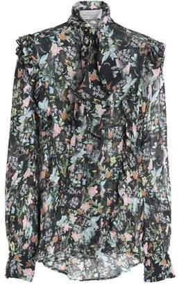 877f02517db1d Preen by Thornton Bregazzi Annie Pussy-bow Floral-print Silk-georgette  Blouse