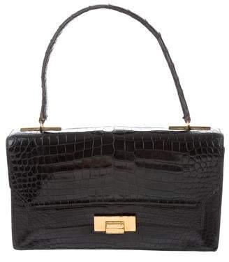 aa330ce4d166 Hermes Vintage Alligator Handle Bag