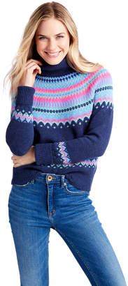 Vineyard Vines Pop Color Fair Isle Cashmere Turtleneck Sweater