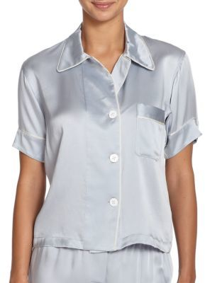 AraksAraks Shelby Silk Short-Sleeve Pajama Top