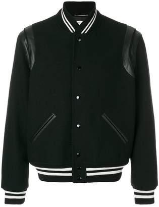 Saint Laurent contrast-cuff bomber jacket