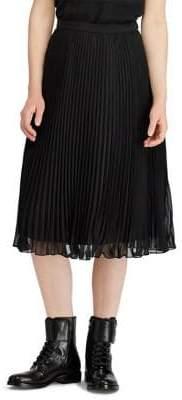 Polo Ralph Lauren Georgette Pleated Skirt