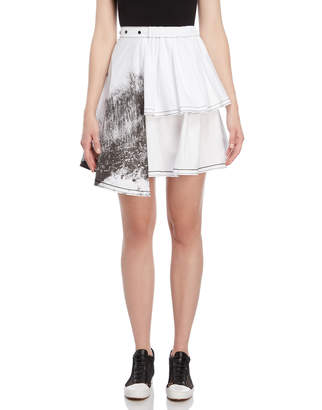 I'M Isola Marras Printed Tiered Skirt