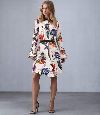 Reiss Our last order date for Christmas has now passed HARLY BOLD FLORAL PRINT DRESS Multi