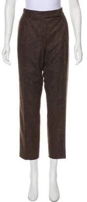 Max Mara Wool & Silk Mid-Rise Pants