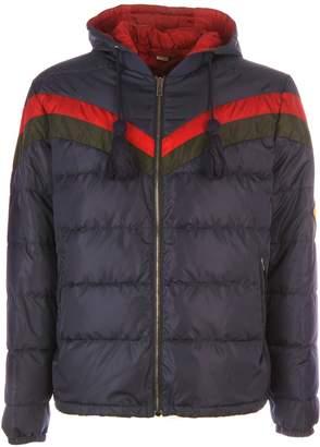Gucci Chevron Striped Padded Jacket
